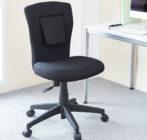 腰への負担を減らす、サポートクッション付きオフィスチェア イメージ