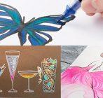 【新製品情報】ぺんてる デュアルメタリックシリーズ   筆ペンが新登場&ハイブリッドタイプの新色も イメージ