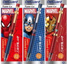 芯が折れないシャープペン「デルガード」にMARVELヒーロー登場 イメージ